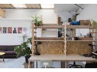 DESK / CO-WORKING, workshop and ceramics facilities creative STUDIOs workspace- Hackney