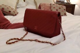 Handbag, CHANEL, Authentic, Classic, Sexy, Chic, Red, Soft lambskin leather, made in France