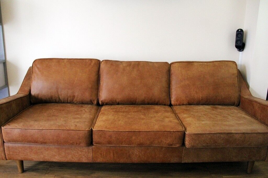 Made com Dallas 3 Seater Sofa, Outback Tan Premium Leather RRP 1399 | in  Burton-on-Trent, Staffordshire | Gumtree