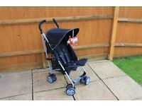 Mamas and Papas Black Urban collapsible push chair with rain cover and full carry cover