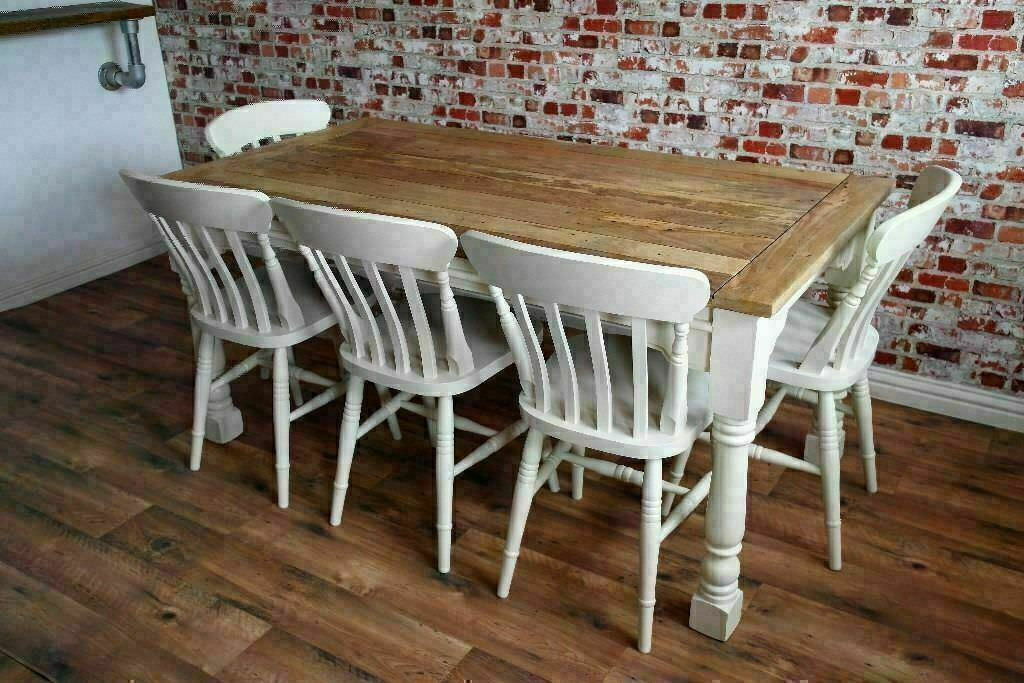 new style 760a2 1c046 Kitchen Dining Table Set Rustic Farmhouse Extending Dining Oak Style -  Brand New - Seats Up To 12 | in Crouch End, London | Gumtree