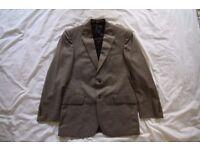 Suit: Jos. A. Bank Jacket (38R) and Pants (30x30), Tan w/ subtle woven pattern