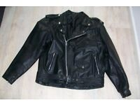 mans leather motor cycle jacket