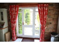 Pair of curtains & 2 matching Roman blinds Romo fabric