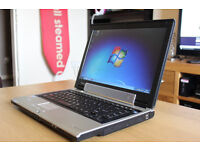 "SUPERB TOSHIBA WIDESCREEN 14.1"" WINDOWS 7 INTEL CORE LAPTOP OFFICE 2007 PRO WITH NEW CHARGER"