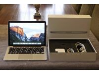 APPLE MACBOOK PRO RETINA 13INCHES 3.1GHZ i7-16GB-256SSD-2015 MODEL-ALL BOXED CALL 07707119599
