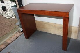 Solid Walnut Console Table, Matching Walnut Nesting tables, Matching Walnut Mirror