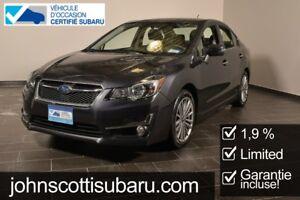 2016 Subaru Impreza Limited 1.9% GARANTIE PROLONGEE Extended war