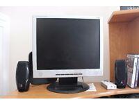 "IIyama prolite E435S 17"" silver lcd computer monitor"