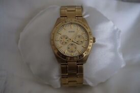 GUESS WATCH - SUPERB CONDITION INCLUDES GUESS POUCH - BOXED - £70.00 o.n.o.