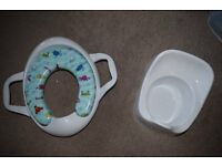 Brand New Toilet Seat and White Potty