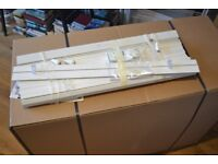4 x wood Barlow window blinds, in perfect condition including all fittings