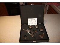Vacu Vin Luxury/Executive Wine Set in a black ash presentation boxed set