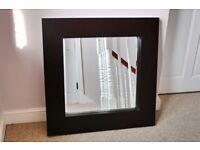 Black Chunky framed IKEA square mirror - 80 cm square
