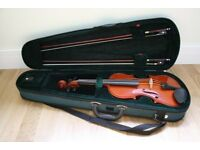 3/4 Antoni Violin in Green Case--Good Condition needs restringing
