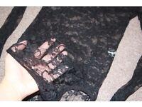 lace black body size s