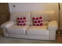 Excellent quality italian leather 3 seater sofa