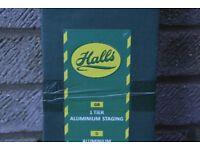 Single tier Halls brand greenhouse staging