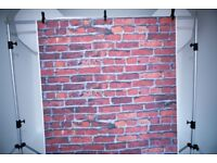 5'x7' Brick wall backdrop poly paper.