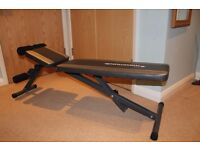 Maximuscle adjustable weights exercise bench - Folds away for easy storage - Good condition