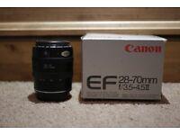 Canon EOS AF DSLR 28-70mm Macro Zoom Lens