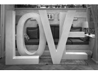Engagements / Weddings / Wedding Props / Big LOVE Letters to Hire