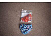 2 reusable swim nappies
