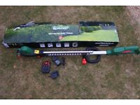 QUALCAST CORDLESS HEDGE TRIMMER AND GRASS CUTTER.
