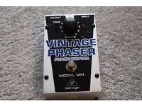 Behringer VP-1 Vintage Phaser Guitar Effects Pedal