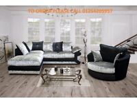*** EXPRESS DELIVERY: BRAND NEW MAX DIAMOND CORNER SOFA OR 3+2 ON SPECIAL OFFER WITH 1 YEAR WARRANTY