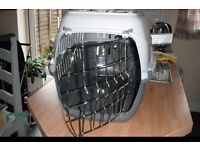 White and Grey Large Cat Carrier