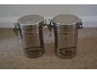 COFFEE AND TEA SET METAL CONTAINERS