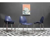 Set of 6 Kartell Italian designer stacking chairs. Dining chairs. Free Edinburgh delivery.