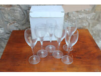 Boxed set of 6 Champagne Glasses / Flutes Laurent Perrier 15cl Verres Tester Glasses Glass
