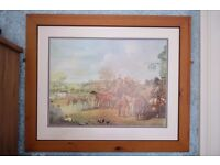 Large Framed Hunting Print