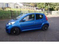 Peugeot 107 blue 2011 petrol 13371 miles 5 door