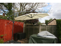 Cantilever Parasol with Base and Cover