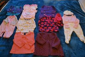 Bundle of baby clothes aged 0-6 months