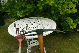 Garden Pick-axe almost new condition perfect handle - Manual rotavator device included