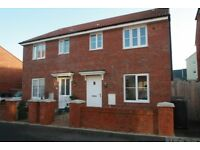 Three Bedroom Unfurnished House with garage to rent £875 pcm Cranbrook EX5 7BX