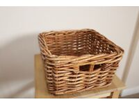 Used Wicker basket 24 cm square.