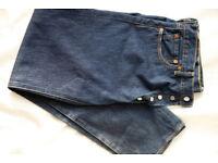 levi levis 501 mens straight jeans 36w 34L