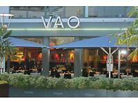 !IMMEDIATE START! Waiting-On Staff Required at VAO Restaurant Sale
