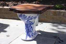 Victorian Blue and White Floral Doulton & Co Simplicitas Toilet