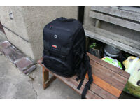 Hama backpack complete with waterproof cover and SD card holder