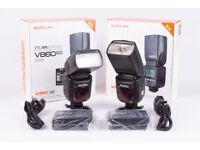 2 x Godox V860II-C E-TTL Speedlights for Canon (NEW)