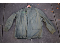Olive Drab Vintage Belgian Army Combat Jacket