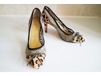 Ladies Christian Louboutin Leopard Heels Size 5