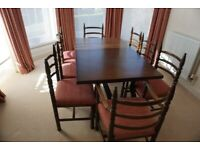 Magnificent Younger Toledo Solid Oak Dining Table and 8 Chairs