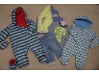 Boys SNOW SUITS/PRAM SUITS - WINTER BUNDLE age 6 - 9 months